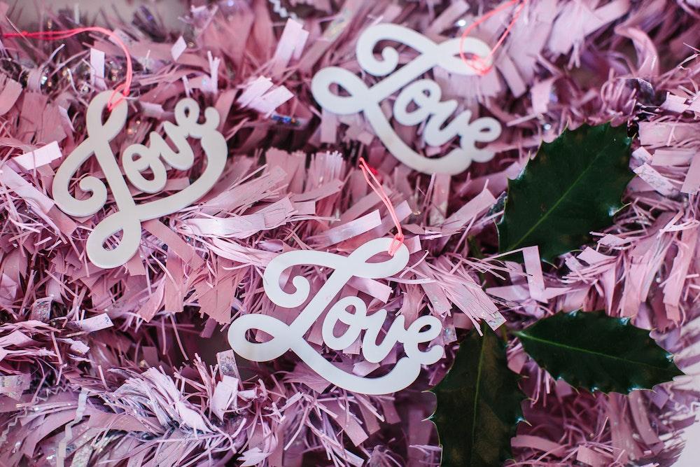 LENZO Christmas Gift Love Tags
