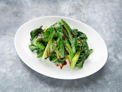 Sautéed greens, vegan oyster sauce