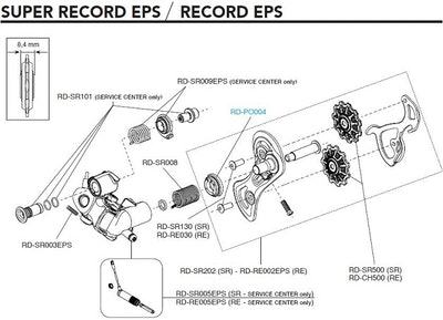 Campagnolo Eps Rear Der. Servo Motor RD-RE005Eps