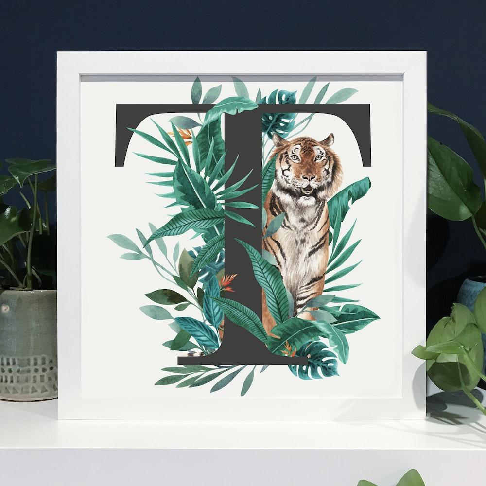 Laura Elizabeth Illustrations T For Tiger Fine Art Print
