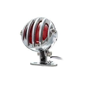 Round Prison Grill LED Rear Light - Chrome