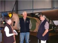 Army Air Museum Oakey Qld Bill  Helen Nesbitt talk to Maj B Readon DirectorRHS