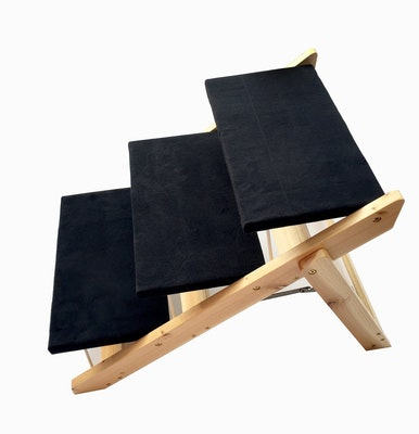 Foldable Pet Stairs - Black