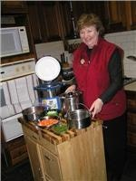 1 Agnes with the ingredients for a Dream-Pot recipe.