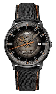Mido Commander Gradient - Stainless Steel with Black PVD - Black Fabric Strap