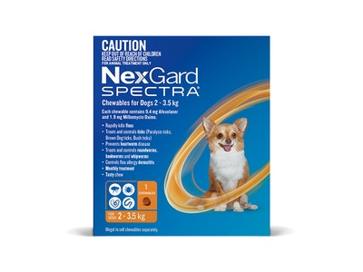 Nexgard Spectra Dog Very Small 2-3.5kg Orange