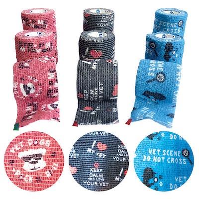 GENIA Fun Strap Cohesive Elastic Bandages Easy To Cut Kit 27 Pack