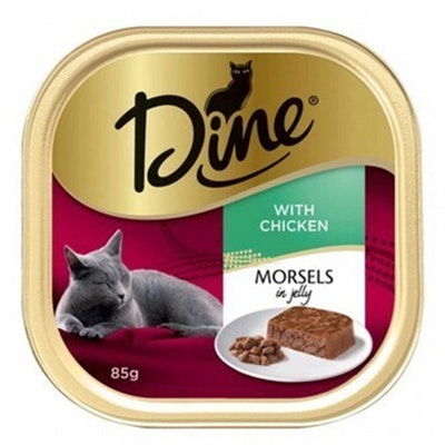 Dine Morsels in Jelly Wet Cat Food with Chicken 14 x 85g