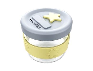 Silicone & Glass Baby Food Storage 1PK 120ml - Lemon Grey