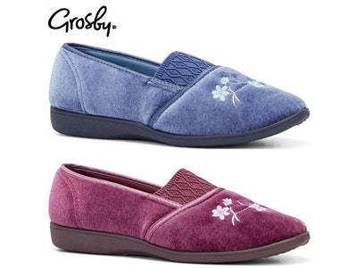 Boutique Medical GROSBY SASHA (GA) Ladies Slippers Comfy Shoes Slip On Moccasins Warm Flats New