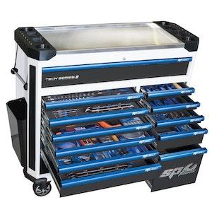 Tool Kit 289 Piece METRIC Master Technician White/Blue SP52665