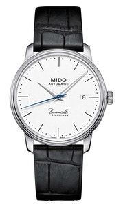 Mido Baroncelli Heritage Gent - Stainless Steel - Black Leather Strap