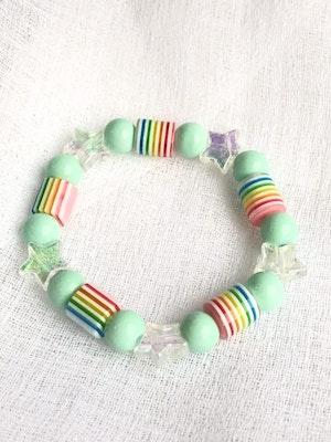 Bijouniq Stretchy Kids Bracelet Minty 2021