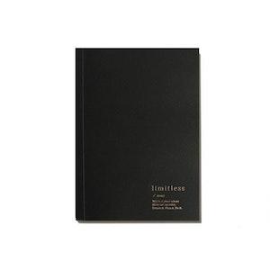 LIMITLESS BLANK NOTEBOOK - BLACK