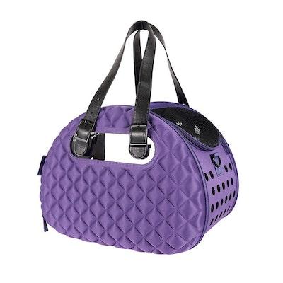 Ibiyaya Diamond Deluxe Pet Carrier - Dark Purple