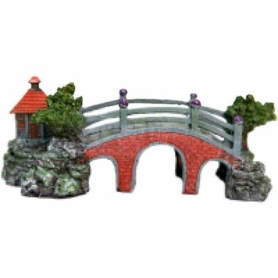 Aqua One Bridge With Hut Ornament 37119