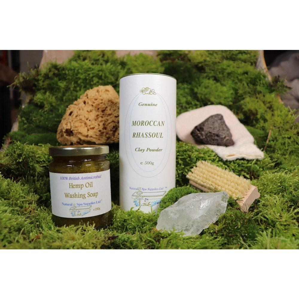 Natural Spa Supplies Wash, Shower & Bath Kit, Fully Natural