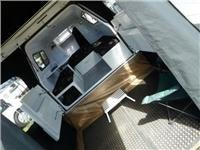 Inside the Work Play camper trailer