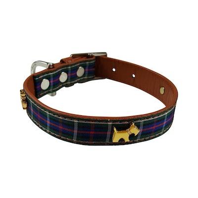 Hamish McBeth Highland Blue Tartan Dog Collar