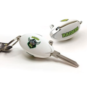 Creative Keys NRL Footy Flip Key Blank with Keyring LW4 - Canberra Raiders