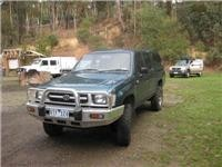 2000 Toyota HiLux. Anchor vehicle for winch work