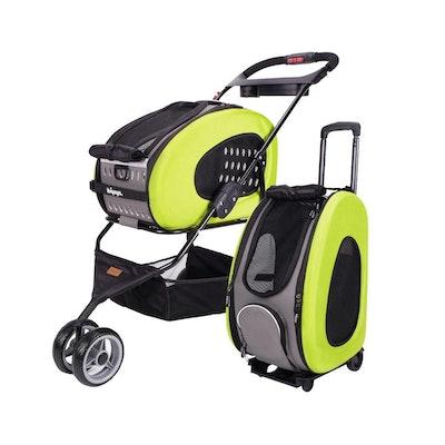 Ibiyaya 5-in-1 Combo EVA Green Pet Carrier-Stroller (Luxury package)