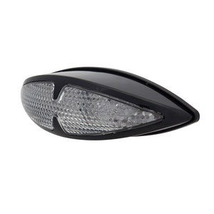 Fox Tail LED Tail Light with Indicators - Black
