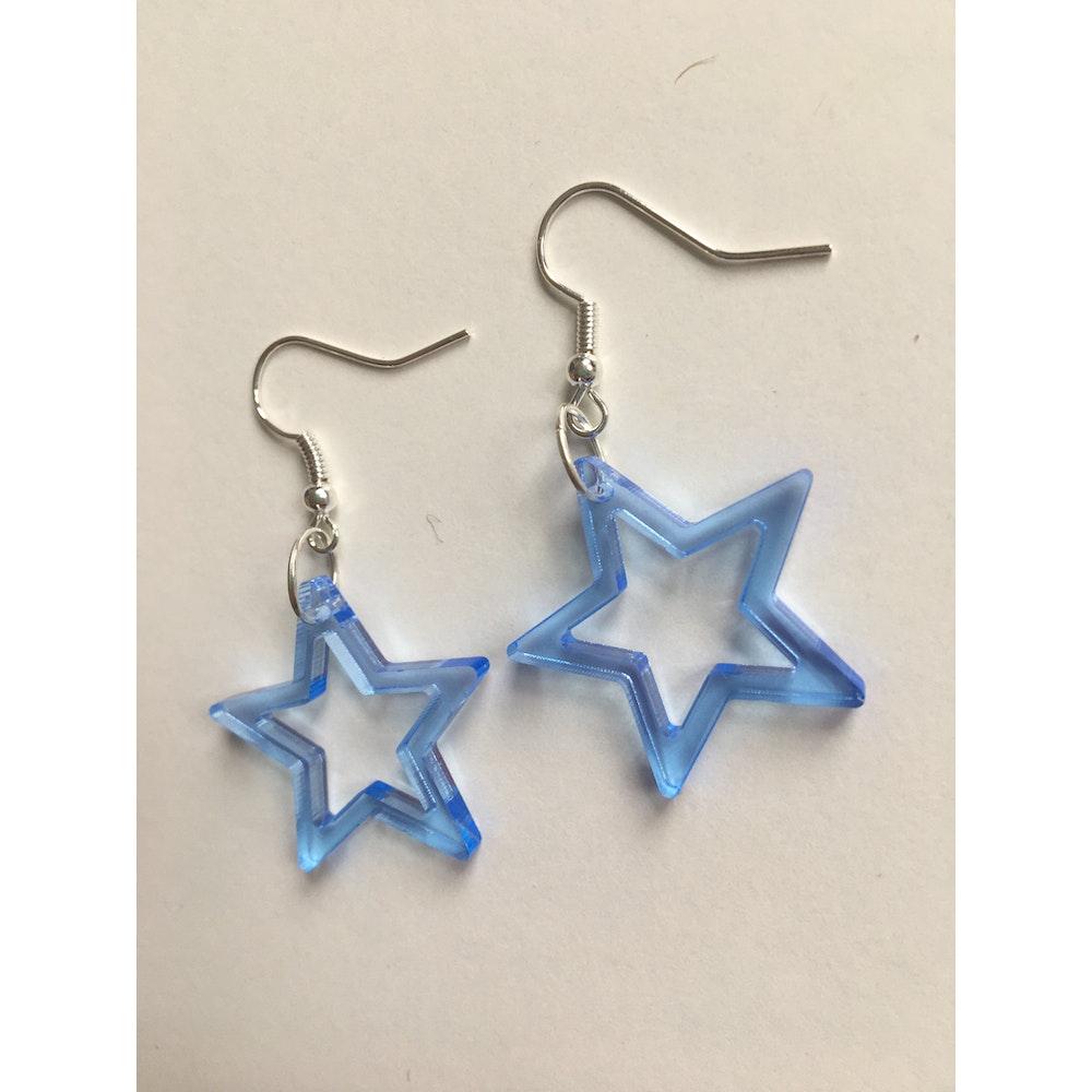 One of a Kind Club Blue Star Acrylic Earrings
