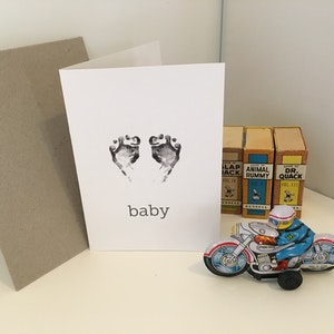 Baby Card | Congratulations Card | New Baby card | Gift Card | Baby feet card | Greeting Card | Baby Shower Card