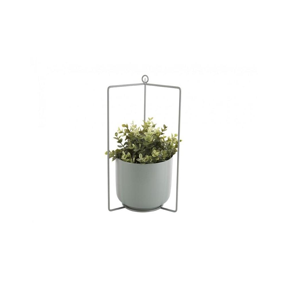 Pretty Cactus Plants  Metal Hanging Planter - Grayed Jade - 19.5cm Diameter