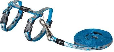 Rogz Harness And Lead Reflectocat Blue
