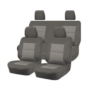 Premium Car Seat Covers For Nissan Navara D22 Series 2007-2015 Dual Cab | Grey