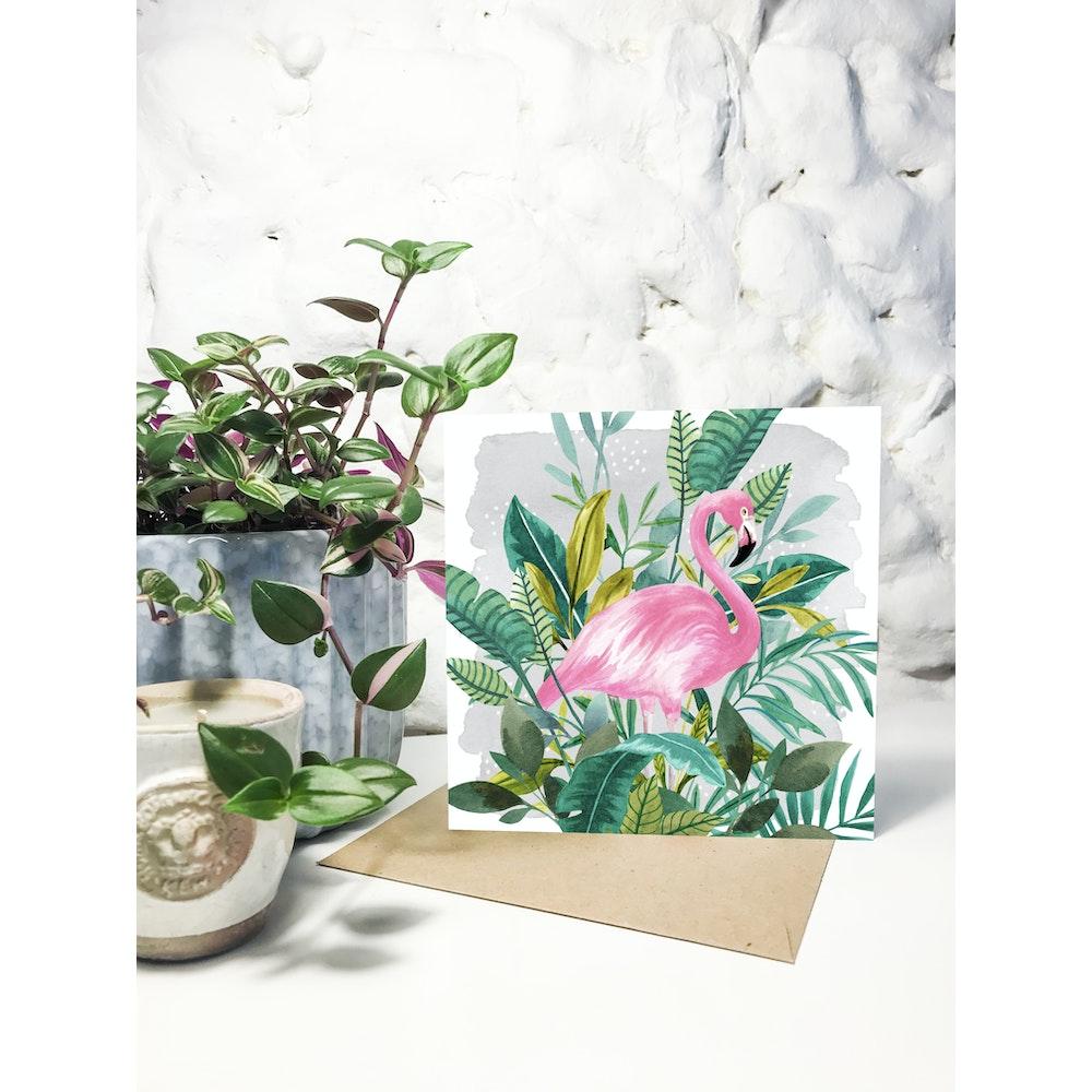 Laura Elizabeth Illustrations Flamingo Greetings Card