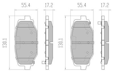 RDA GP MAX REAR BRAKE PADS for FIAT FREEMONT *328mm Brakes* 2013-2017 RDB2201