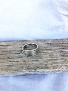 """Silver """"Soph"""" ring (size T)"""