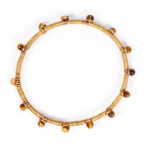 Global Sisters Shop Wire Dot Bangle - Amber