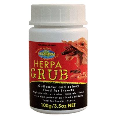Vetafarm Herpagrub Cricket Meal Worm Food for Pet Reptiles 100g
