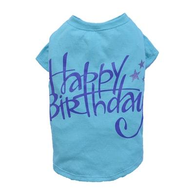 DoggyDolly SMALL DOG - Birthday Doggy Blue T Shirt