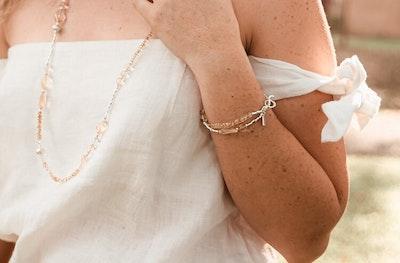 Uniqu-Lea Yours Beautiful Citrine and Silver - Bracelet