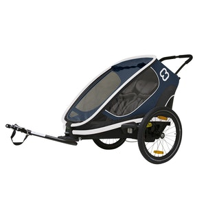 Hamax OUTBACK TWO TRAILER WITH RECLINE - TWO CHILDREN BLUE/WHITE