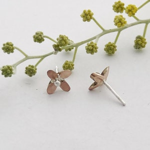 Rose gold Star flower with silver ball