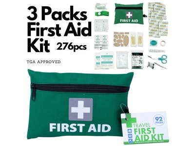 Boutique Medical 3 Packs Travel First Aid Kit Bag 276pcs Medical Workplace Survival Set Home Car Family Emergency Treatment Rescue
