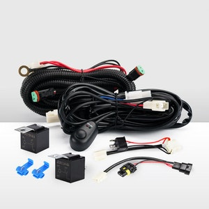 Led Light Wiring Loom Harness Relay Kit