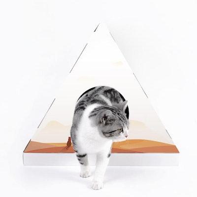 PETKIT Cat Scratcher House(Pyramid)   Orange