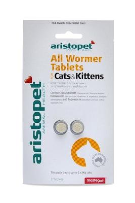 Aristopet Allwormer Cat & Kitten 5kg 2pk