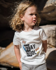 Certified Organic Cotton Stay Cool T-Shirt-Natural White