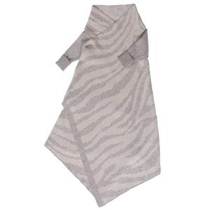 Jujo Baby Animal Pattern Shwrap™ - silver/ecru