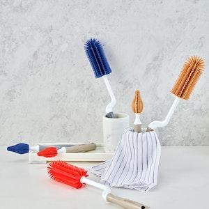 Mother-K Silicone Rolling Bottle Brush & Teat Set