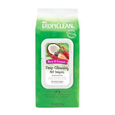 Tropiclean Deep Cleaning Wipes 100 Pack