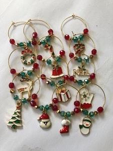 Handmade By Bronzerose Christmas Wine Charms